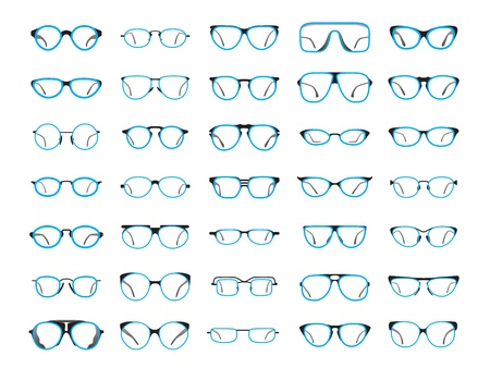 Glasses icons crated in Illustrator CS6 Vector
