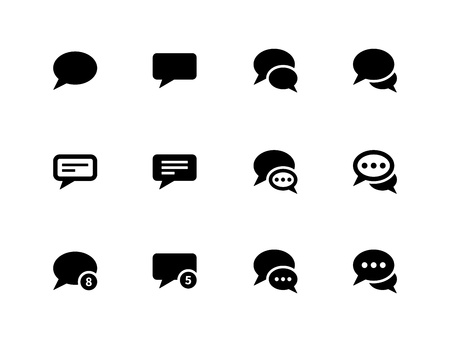 Message bubble icons on white background. Vector illustration. Stock Vector - 21594393