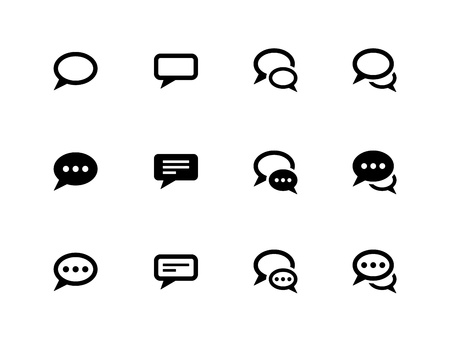 Speech bubble icons on white background. Vector illustration.