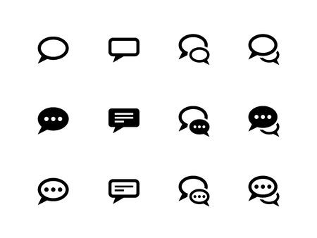 Tekstballon pictogrammen op een witte achtergrond. Vector illustratie.