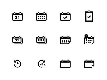congregation: Calendar icons on white background. Vector illustration.