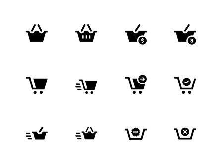 Checkout icons on white background. Vector illustration. Stock Vector - 21594411