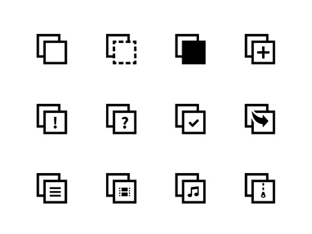 copy paste: Copy Paste icons for Apps, Presentations, Web Pages. Vector illustration.