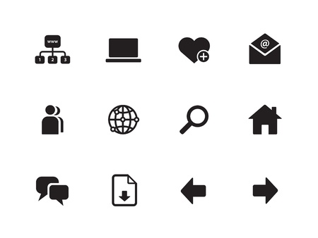 Network icons on white background. Vector illustration.