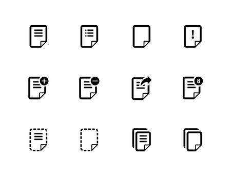 Notepad Document file and Note icons. Vector Illustration. Stock Vector - 21598795
