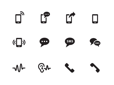 Phone icons on white background. Vector illustration. Illustration