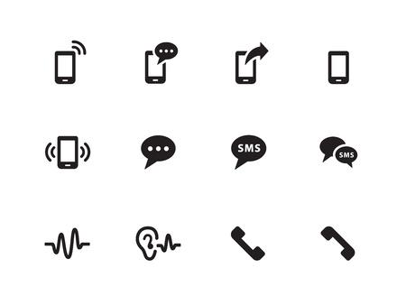 sayings: Telefoon pictogrammen op witte achtergrond. Vector illustratie. Stock Illustratie
