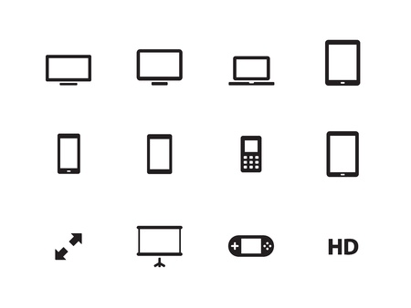 Screens icons on white background  Vector illustration