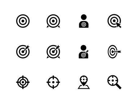 Doel pictogrammen op witte achtergrond Vector illustratie