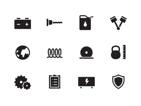 Tools icons on white background  Vector illustration