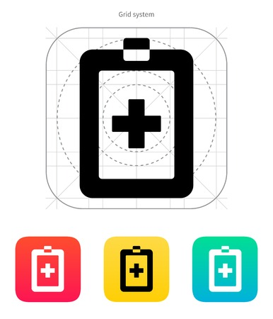 Patient card icon on white background. Vector illustration.