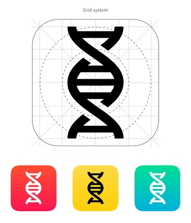 DNA icon on white background. Vector illustration. Vector