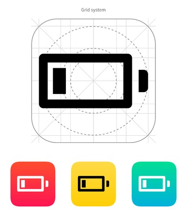 Little charge battery icon on white background. Vector illustration. Vector