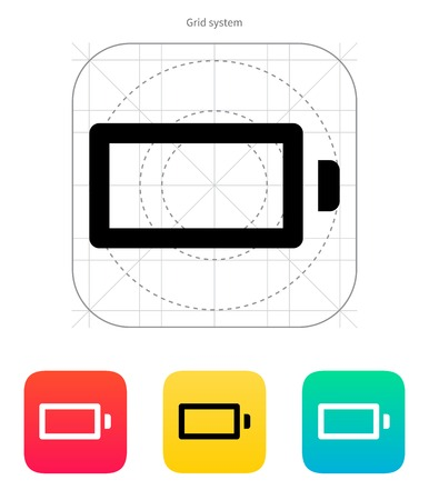 Empty charge battery icon on white background. Vector illustration. Vector
