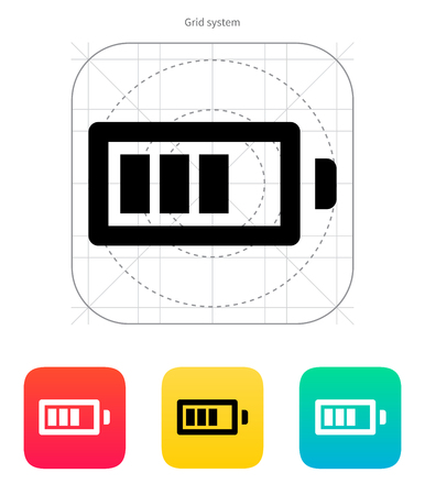 Battery charge icon on white background. Vector illustration. Vector
