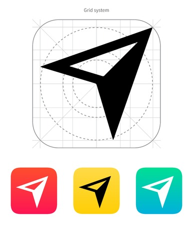 application recycle: Arrow navigator icon on white background. Vector illustration.