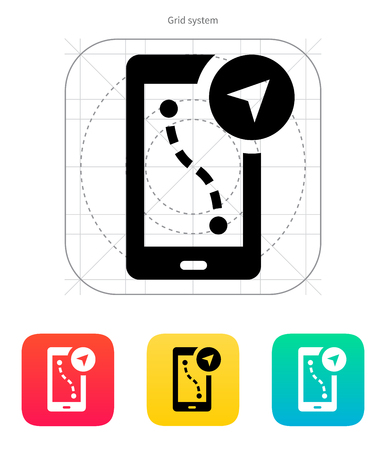 Route navigator icon on white background. Vector illustration.