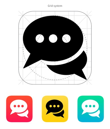 Dialogue icon on white background. Vector illustration. Stock Vector - 22453542