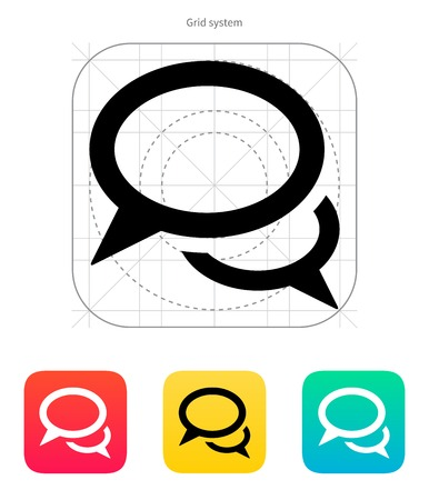 Dialogue icon on white background. Vector illustration.
