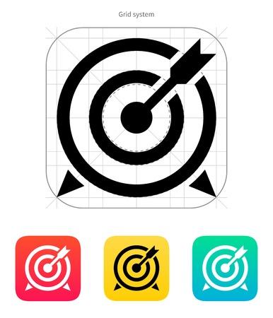 Target mit Pfeil-Symbol. Vektor-Illustration. Illustration