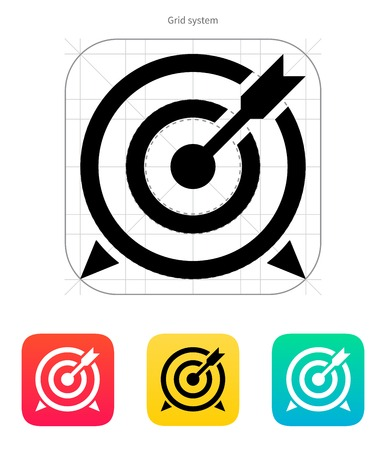 Target with arrow icon. Vector illustration.