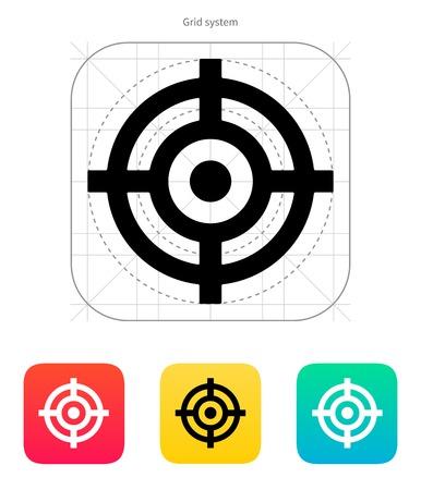 Crosshair icon. Vector illustration.