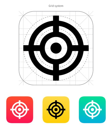Crosshair icon. Vector illustration. Stock Vector - 22453566
