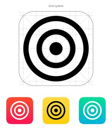 Target icon. Vector illustration. Vector