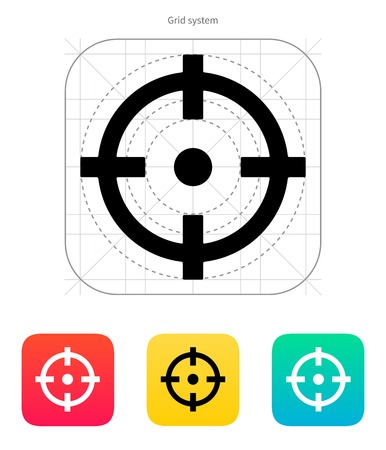 Crosshair icon. Vector illustration. Vector