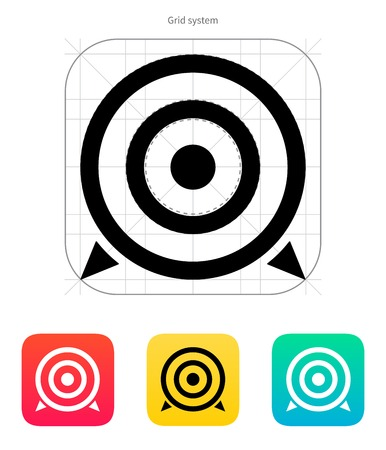Target icon. Vector illustration. Illustration