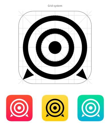 ziel icon: Ziel-Symbol. Vektor-Illustration.