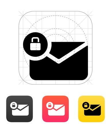 Sichere E-Mail-Symbol auf weißem Hintergrund. Envelope Anzeichen für Web und Anwendungen. Vektor-Illustration.
