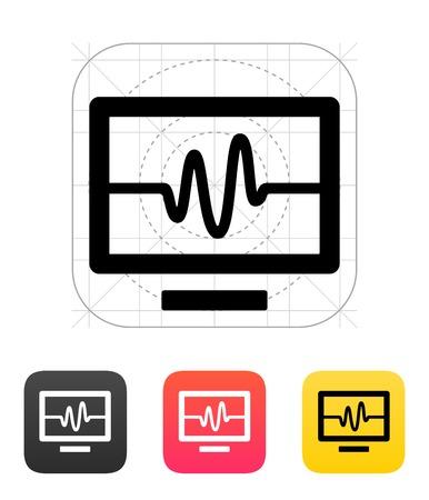 TV signal icon. Vector illustration.