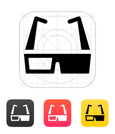 stereoscope: Modern 3D cinema glasses icon. Vector illustration. Illustration