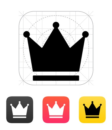 Crown King icons. Vector illustration. Vector