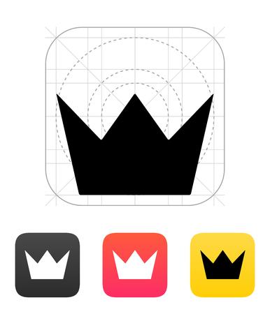corona de rey: Crown King iconos. Ilustraci�n del vector. Vectores