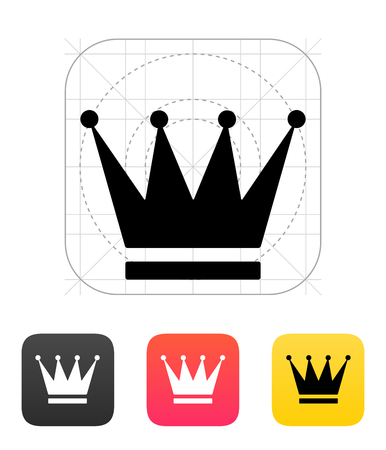 sovereign: Crown icons. Vector illustration.