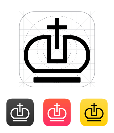 pope: Crown Pope icons. Vector illustration. Illustration