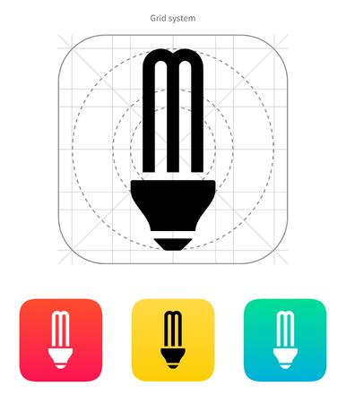 CFL light bulb icon on white background. Vector illustration.