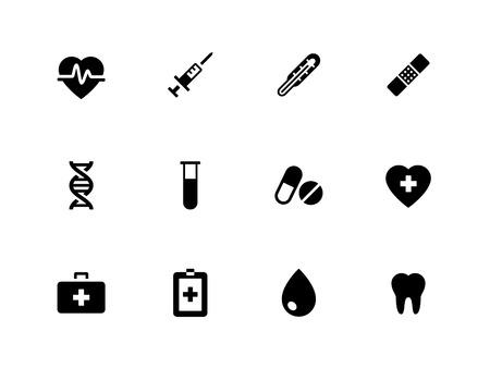 Medical icons on white background. Vector illustration.