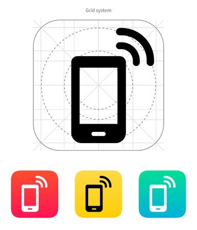cellphone: Phone icon. Vector illustration.