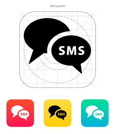conference call: Phone dialogue icon. Vector illustration.