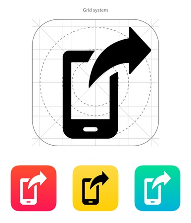 posted: Phone posted icon. Vector illustration. Illustration