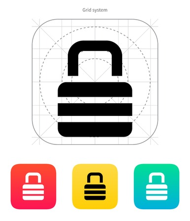 Padlock icon. Vector illustration. Vector