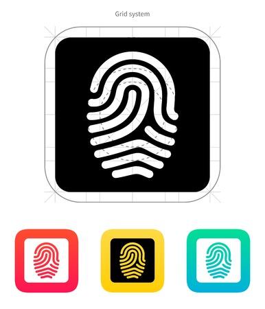 Huellas dactilares y el icono de huella digital. Ilustración del vector.