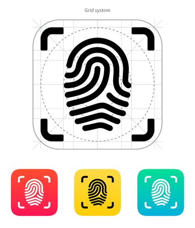 Scanning finger icon. Vector illustration. Stock Vector - 22499653