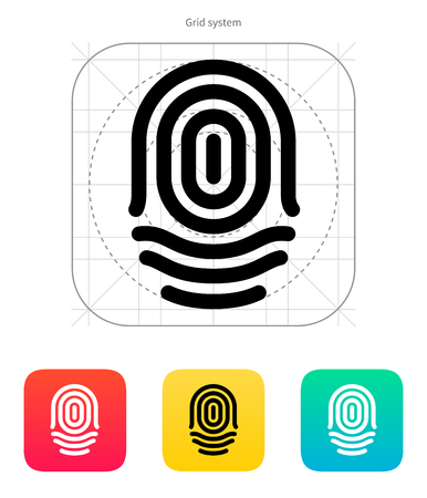 Fingerprint whorl type icon. Vector illustration.