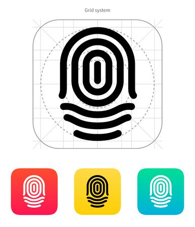 whorl: Fingerprint whorl type icon. Vector illustration.