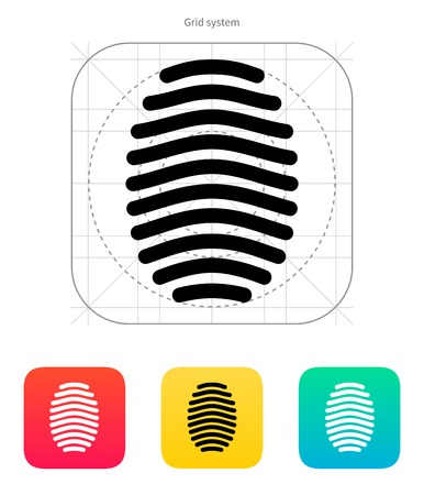 Fingerprint arch type icon. Vector illustration. Vector