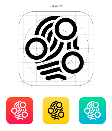 Fingerprint loop type scan icon. Vector illustration.